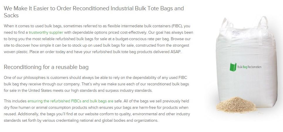 industrial tote bags