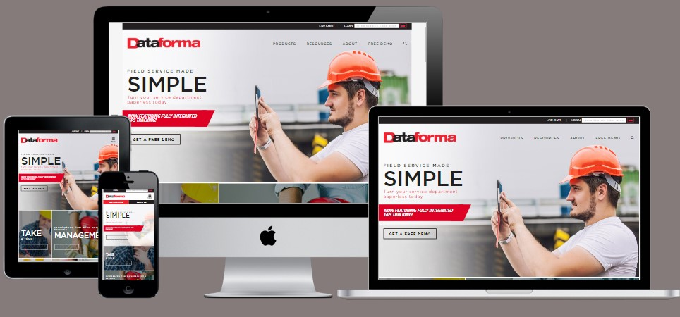 responsive designed website