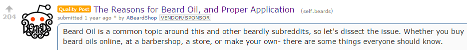 Beardbrand Quality Reddit Post