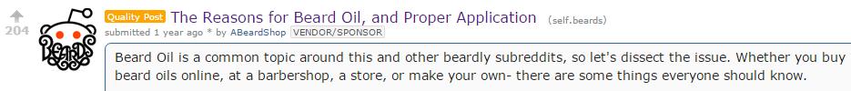 Beardbrand Quality Reddit Post