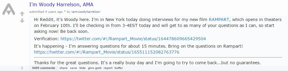 Woody Harrelson Reddit Example