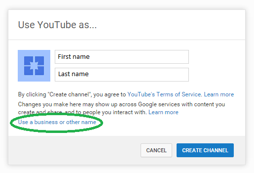 Choosing a YouTube Channel Name