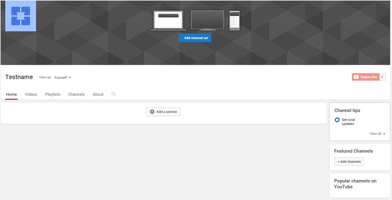 YouTube Channel Customization