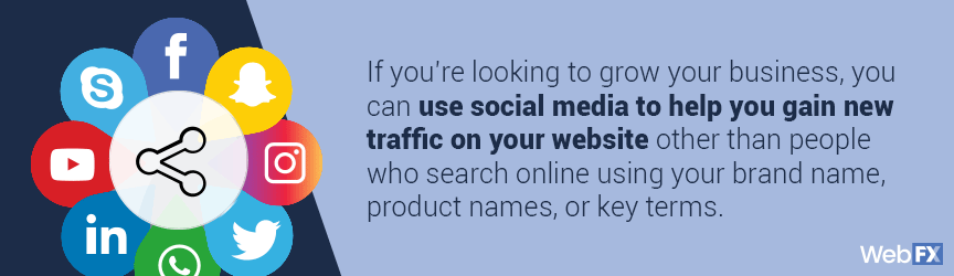 social media can drive more traffic to your website